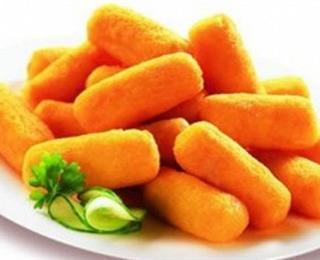 أصابع البطاطس مع القمح