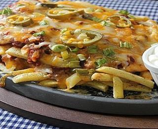 بطاطس تكساس فرايز بالجبنة