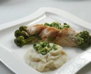 طبق الدجاج بالبروكلي
