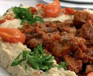 هريسة الباذنجان مع اللحم