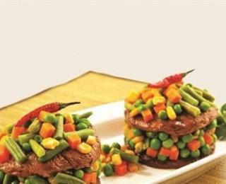 طبقات اللحم البقري الطري