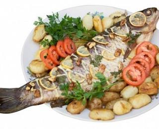 سمك بوري متبل ومشوي