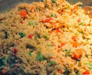 طاجن الأرز مع الدجاج والخضروات