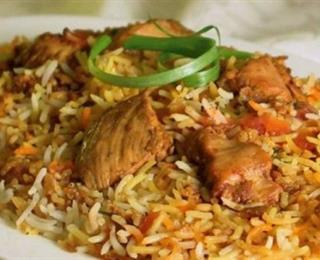 ارز برياني مع الدجاج
