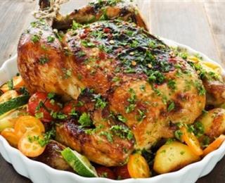 الدجاج بالاعشاب