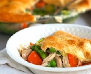 فطيرة الدجاج بالخضروات