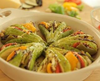 الكوسا المشوي مع الخضروات