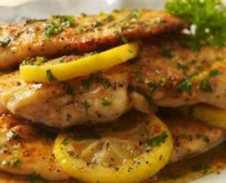 الدجاج بصلصة الليمون